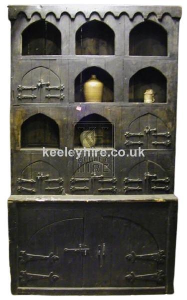 Dark Wood Cupboard with Arches