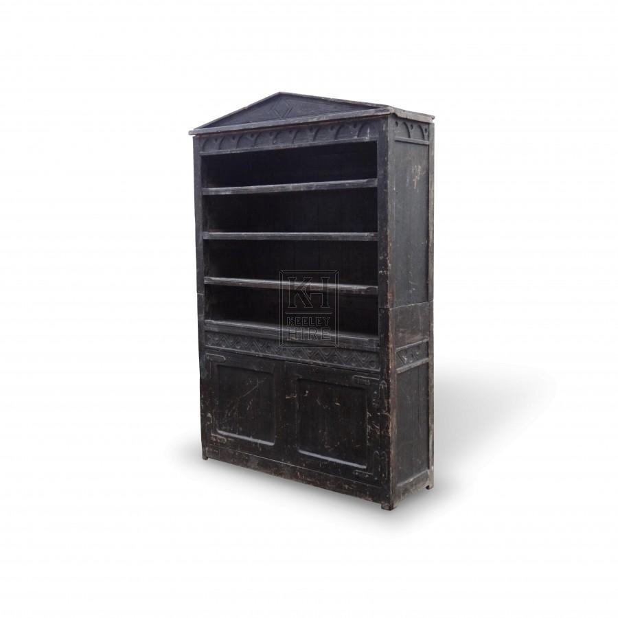 Large Dark Wooden Bookshelves