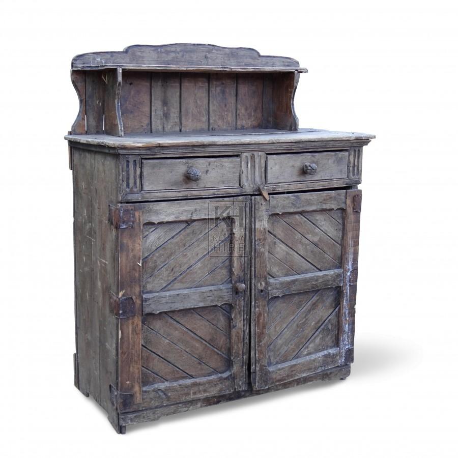 Wooden Dresser with Shelf