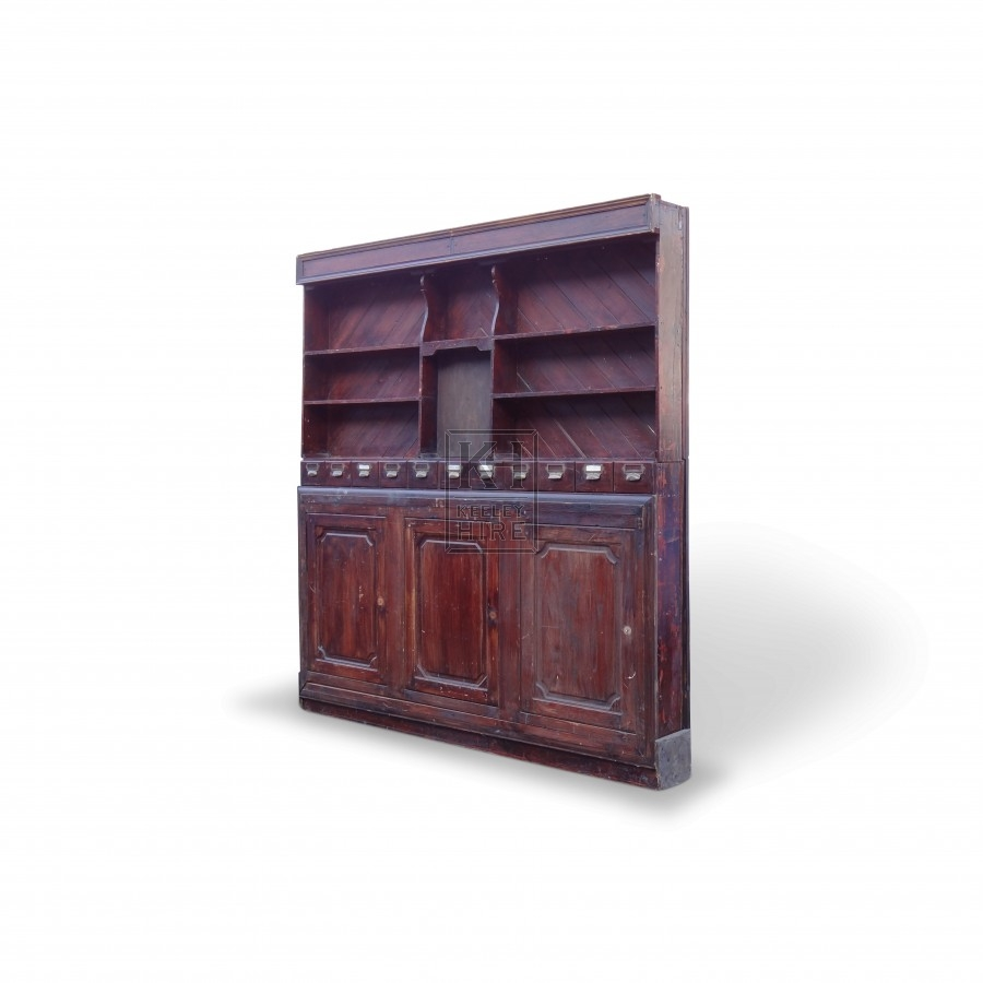 Large Wooden Dresser with Cupboards