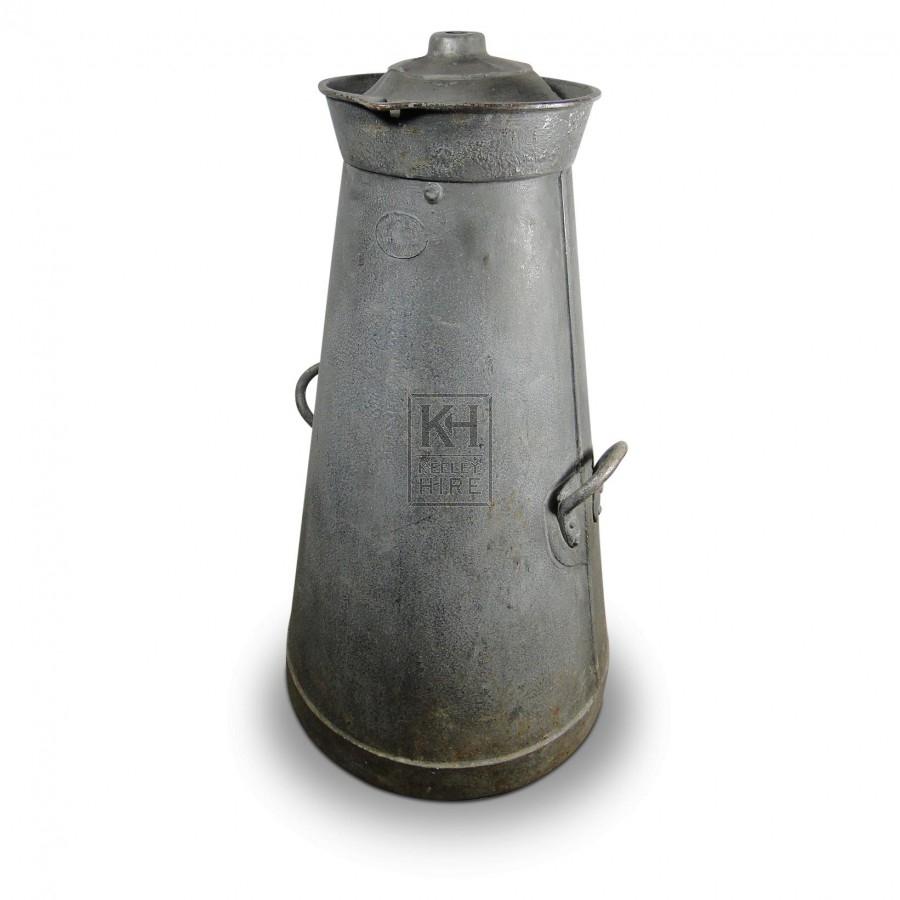Early Galvanised Milk Churn #5