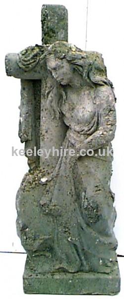 Gravestone Woman with Cross