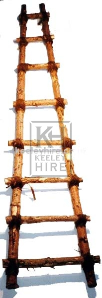 Rough Wood and Rope Ladder