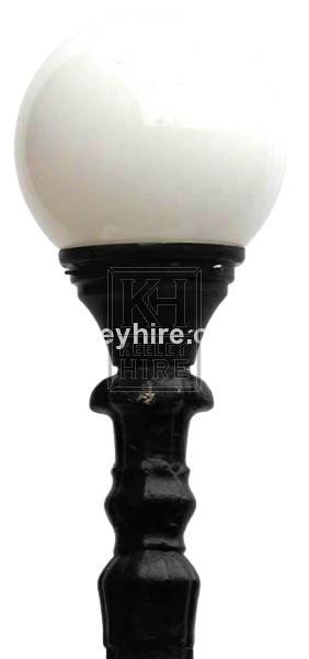 Globe Street Lamp Top - Glass
