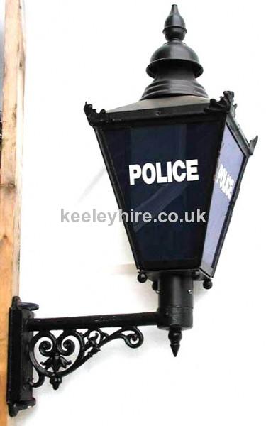 Police lamp on bracket