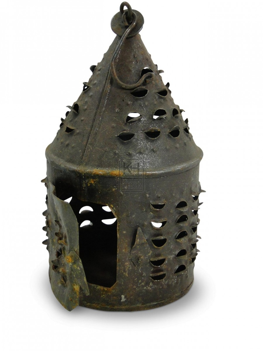 Pierced metal Lantern