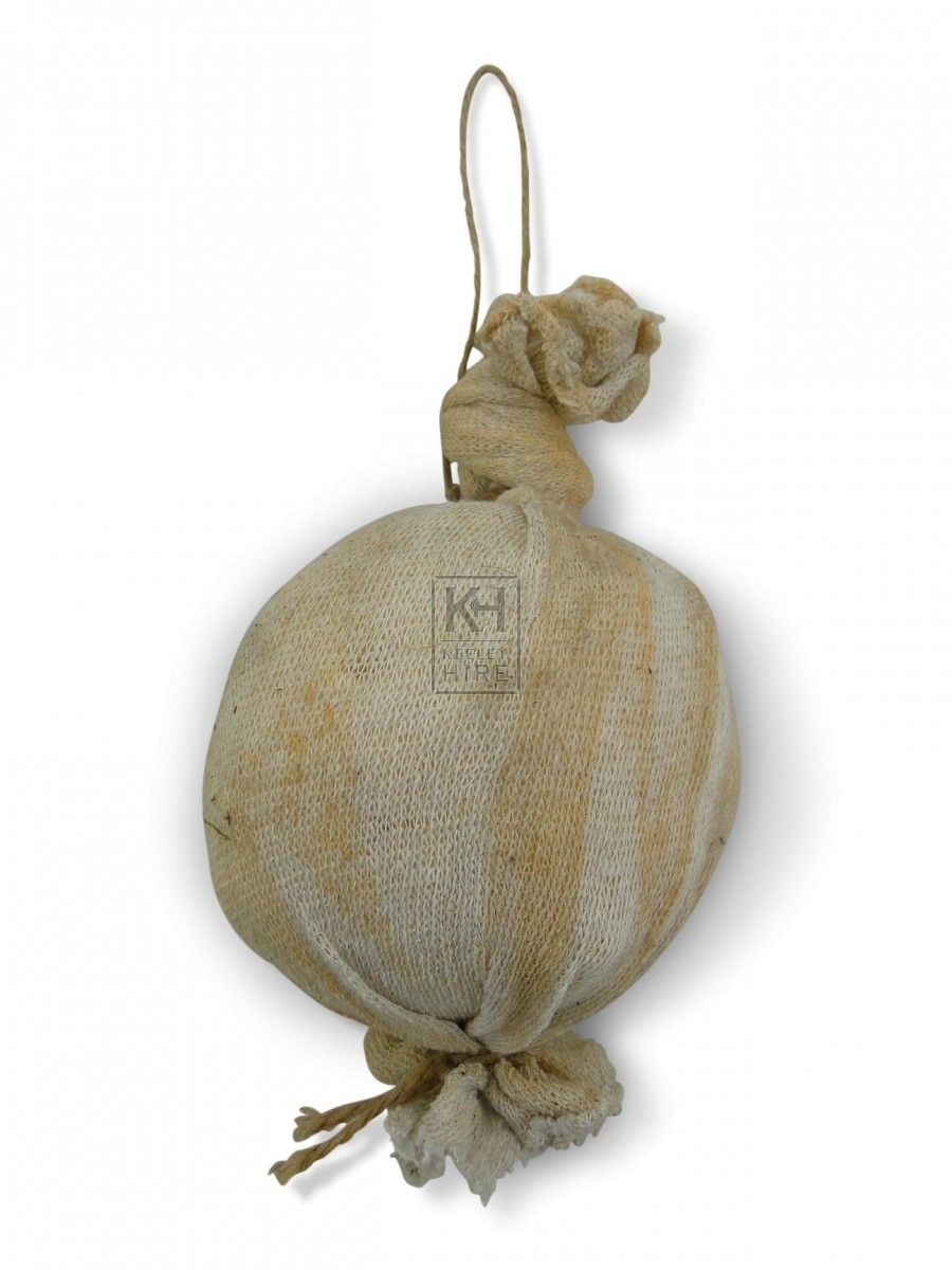 Round Cheeses in Muslin