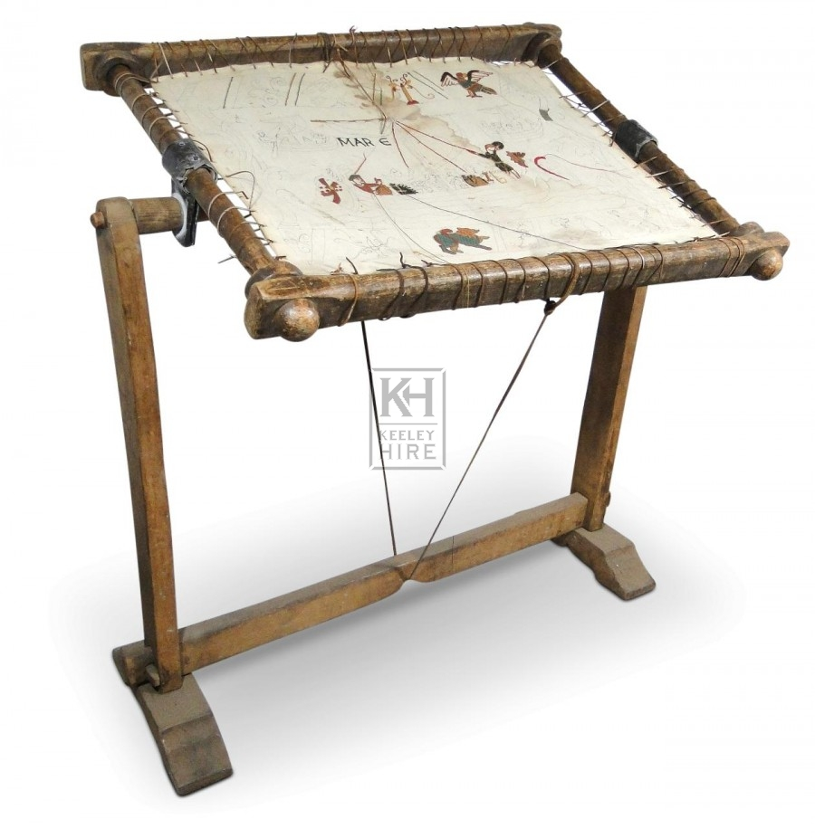 floorstanding wood embroidery frame - Embroidery Frames