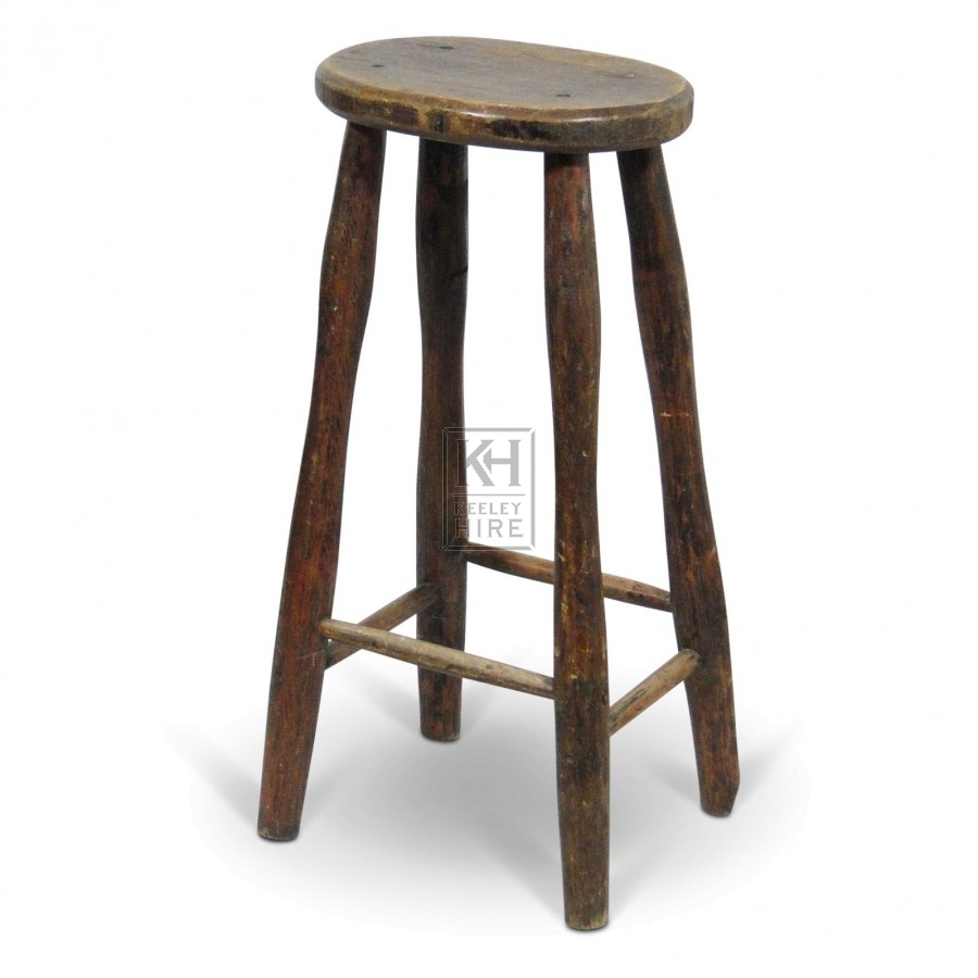 Stools prop hire tall oval wood bar stool keeley