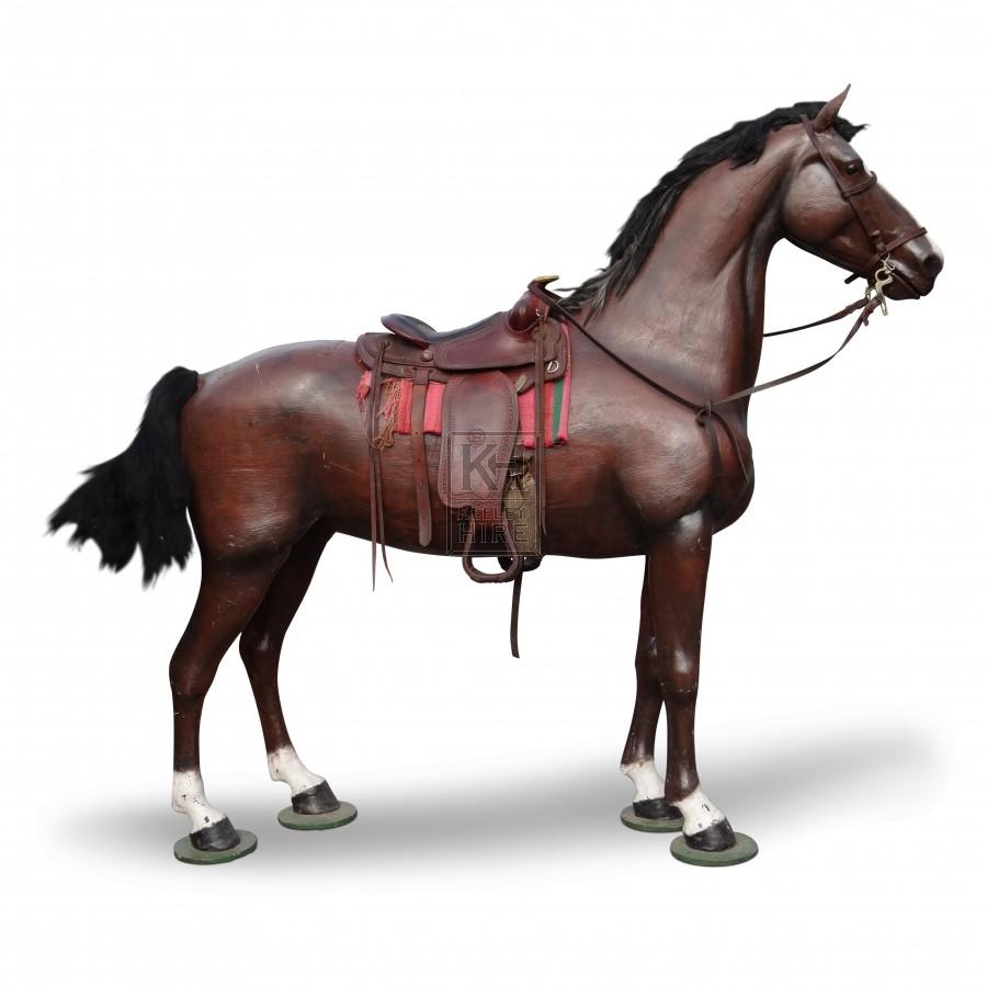 Fibreglass Horse with Saddle