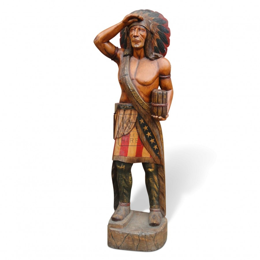 Carved Indian Chief Statue
