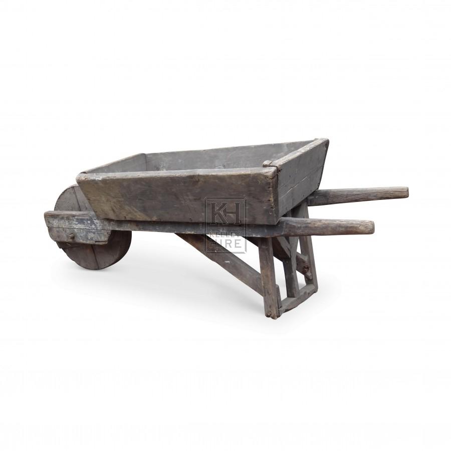 Period wheelbarrow with solid wheel