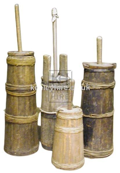 Wood Plunger Butter Maker