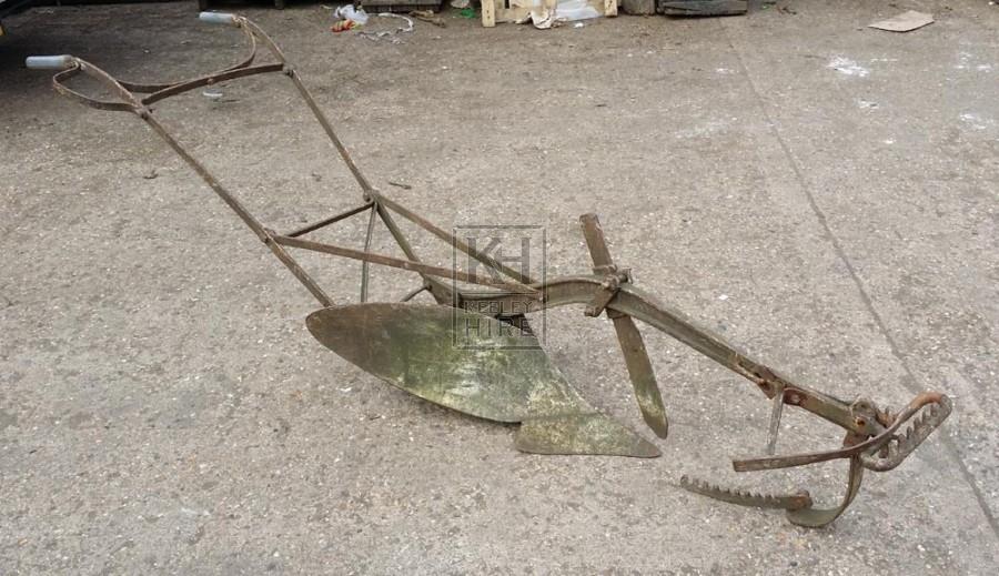 Iron farm plough