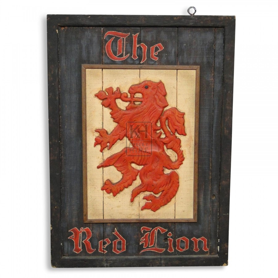 The Red Lion Pub Sign