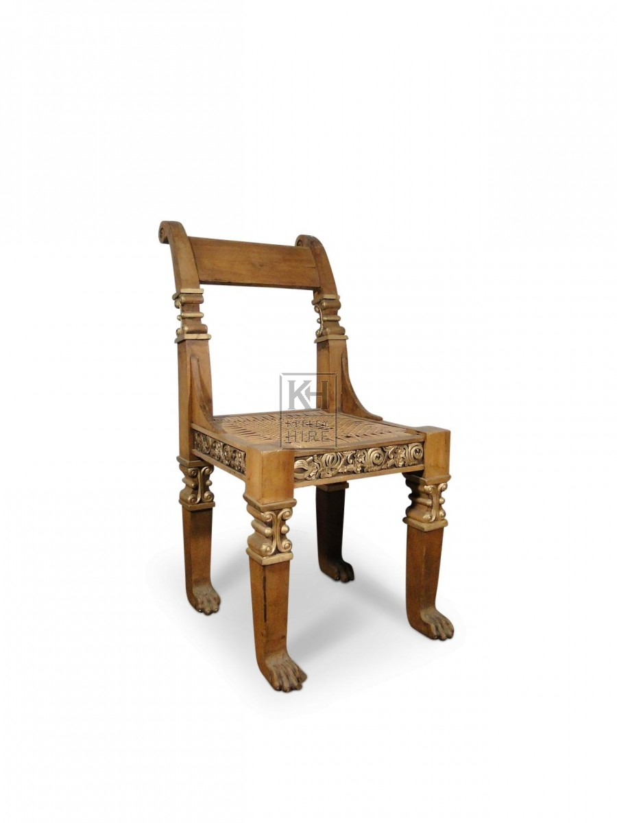 Gold Painted Carved Chair