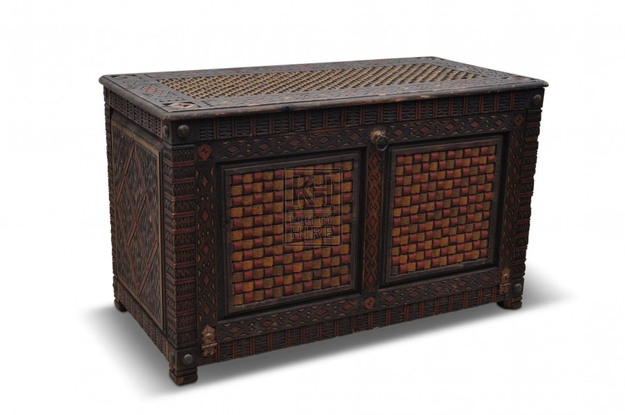 Large Painted Wood Chest