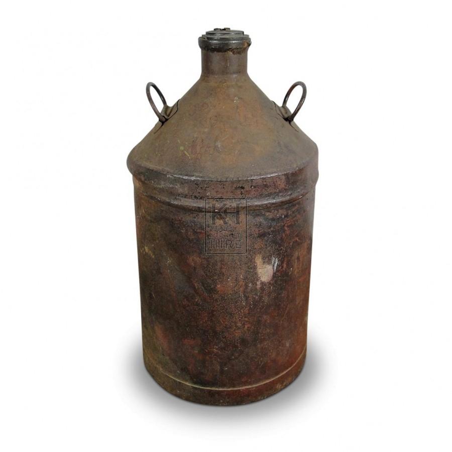 Galvanised Bottle Urn
