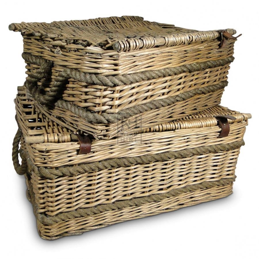Rectangular Wicker Baskets With Handles : Baskets prop hire ? rectangle wicker basket with rope