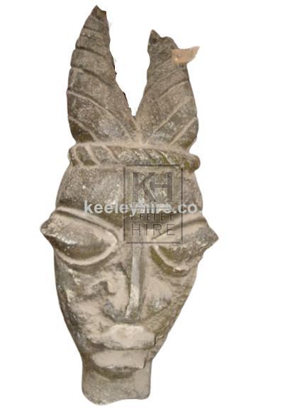 Large Polystyrene Carved Head