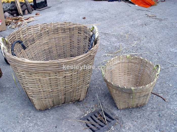 Oriental woven baskets