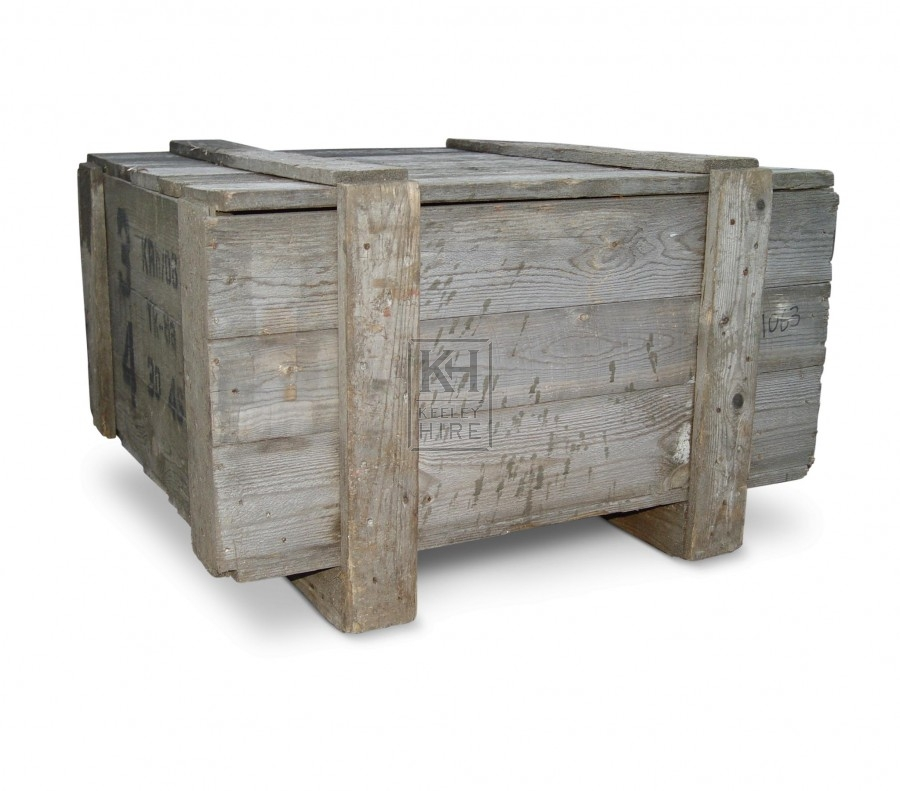 Wood packing crate