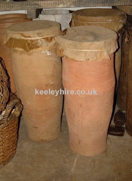 Large earthenware storage jars