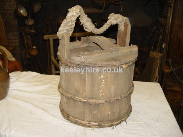 Wood Bucket with Lid