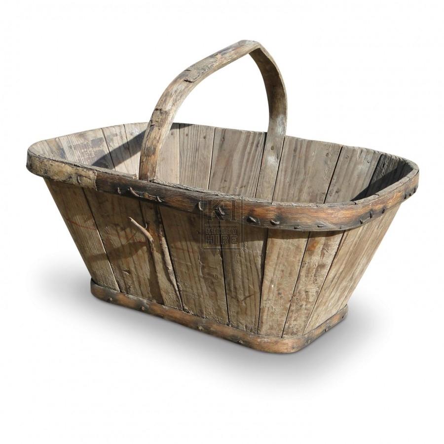 Garden Equipment Prop Hire » Wooden Garden Trug - Keeley Hire