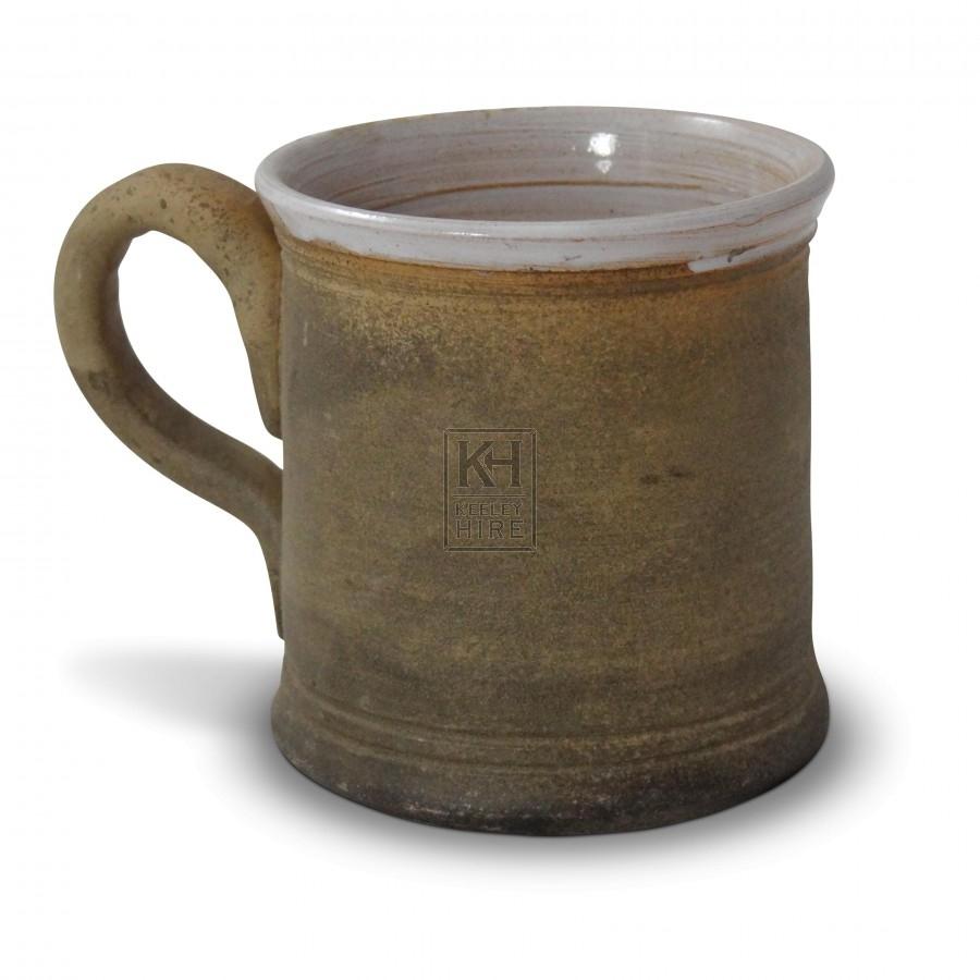 Brown Glazed Pottery Tankard