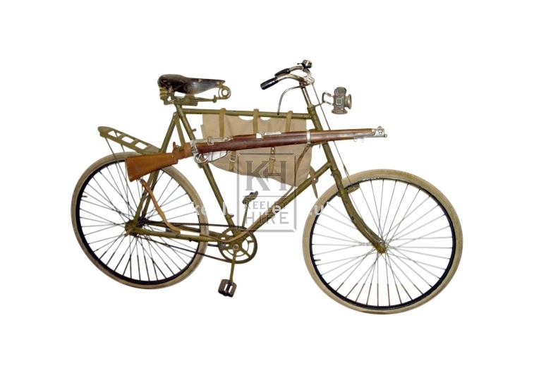 Military Bicycle with Frame Bag