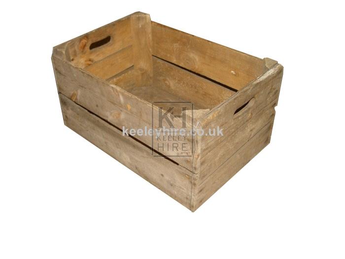 Wood veg crate