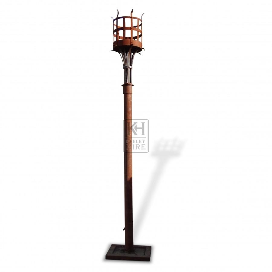 Floorstanding Iron Flambeaux #4
