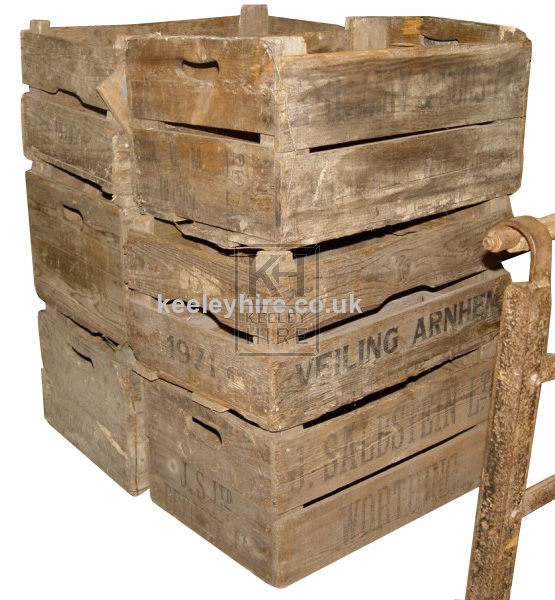 Wood veg crates