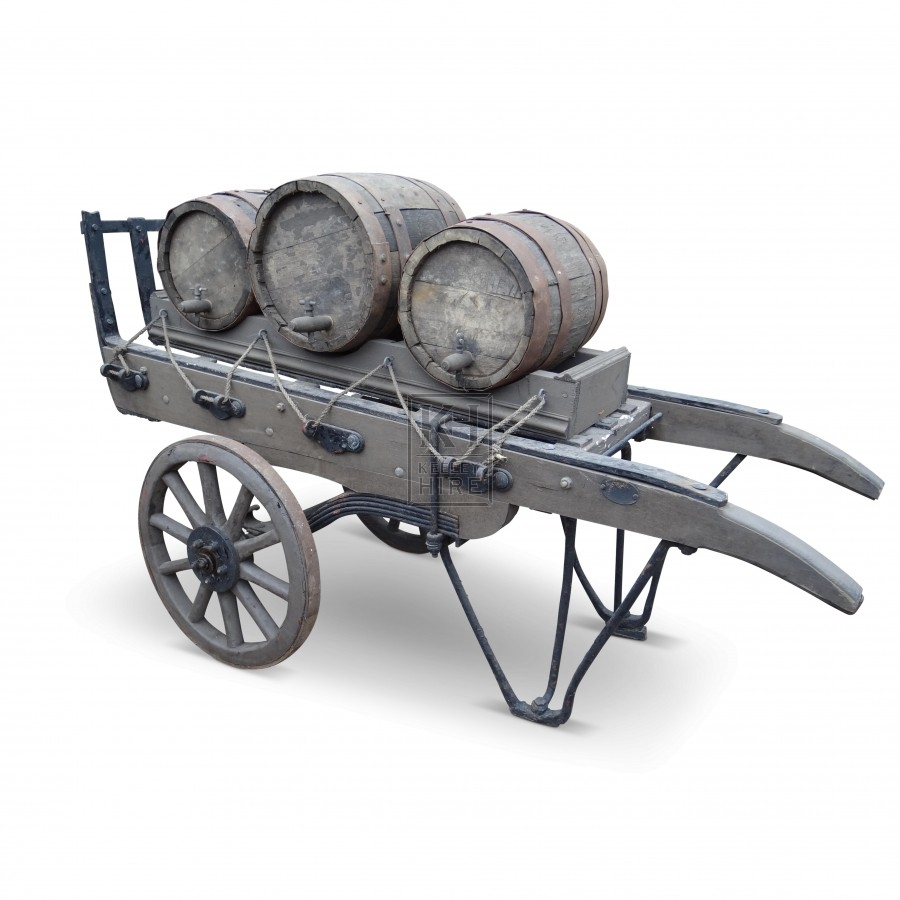 Flat handcart with or without barrels