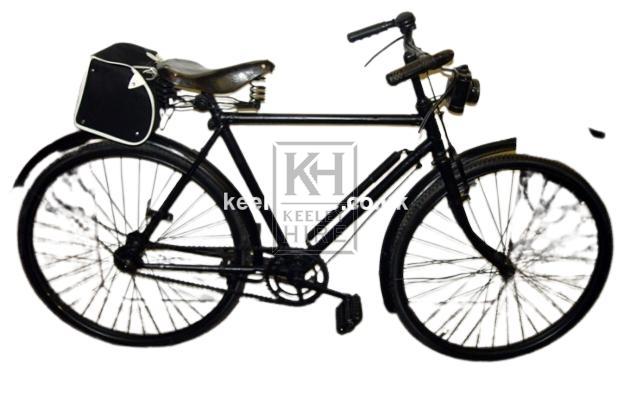1950s childs bicycle with saddlebag