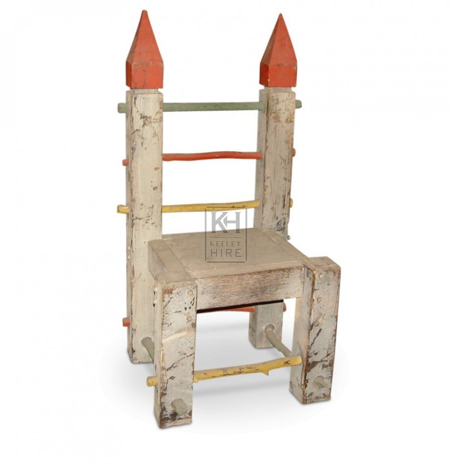 Painted Pointed Wooden Chairs