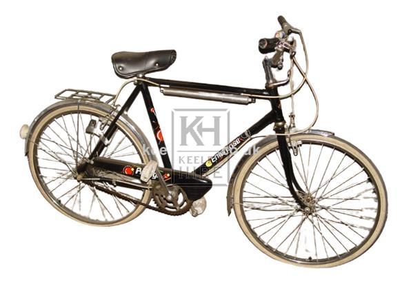 1960s Mans black bicycle