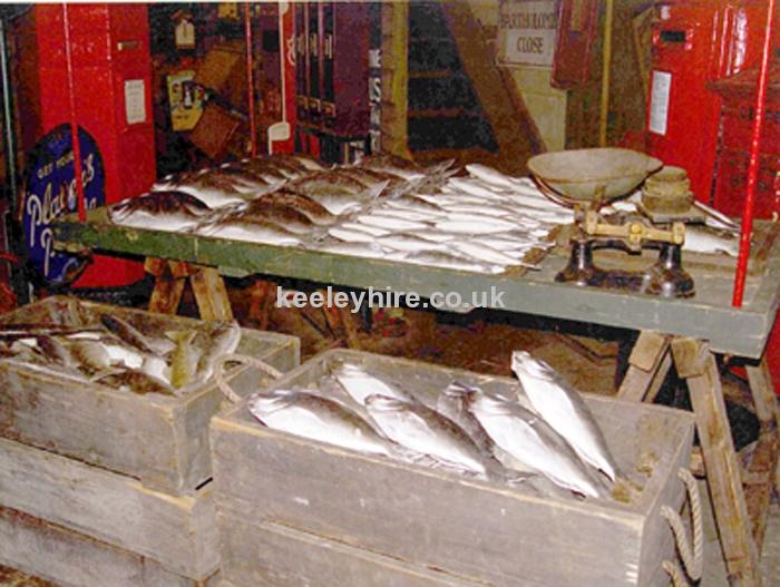 Trestle market stall - Fish