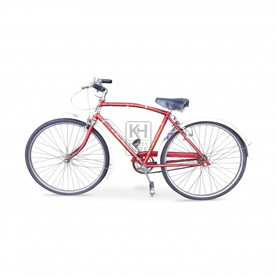 1950s red childs bicycle