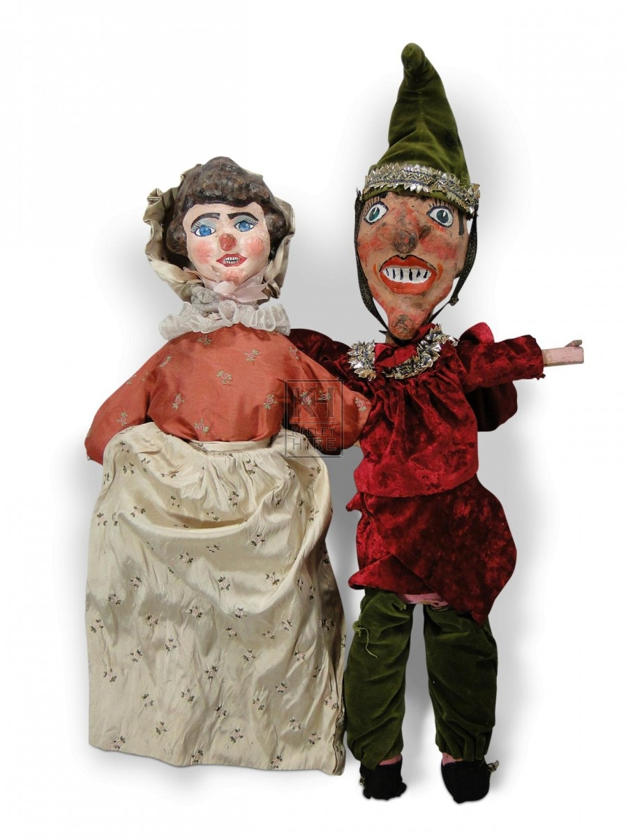 Pair of Victorian Punch & Judy Puppets