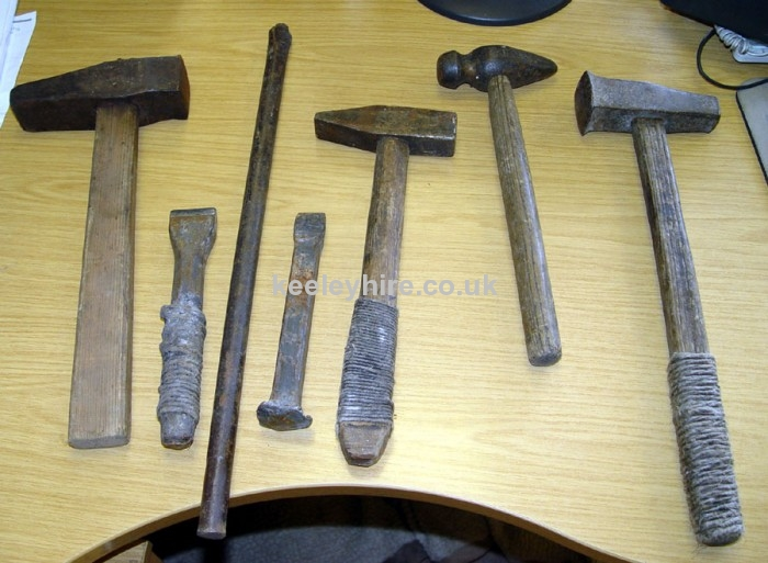 Stone Mason Tools : Workshop furniture and dressing prop hire early stone