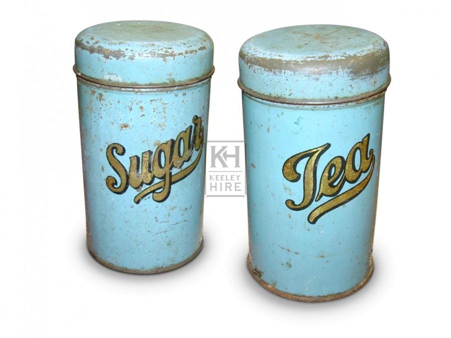 Sugar & Tea Tins