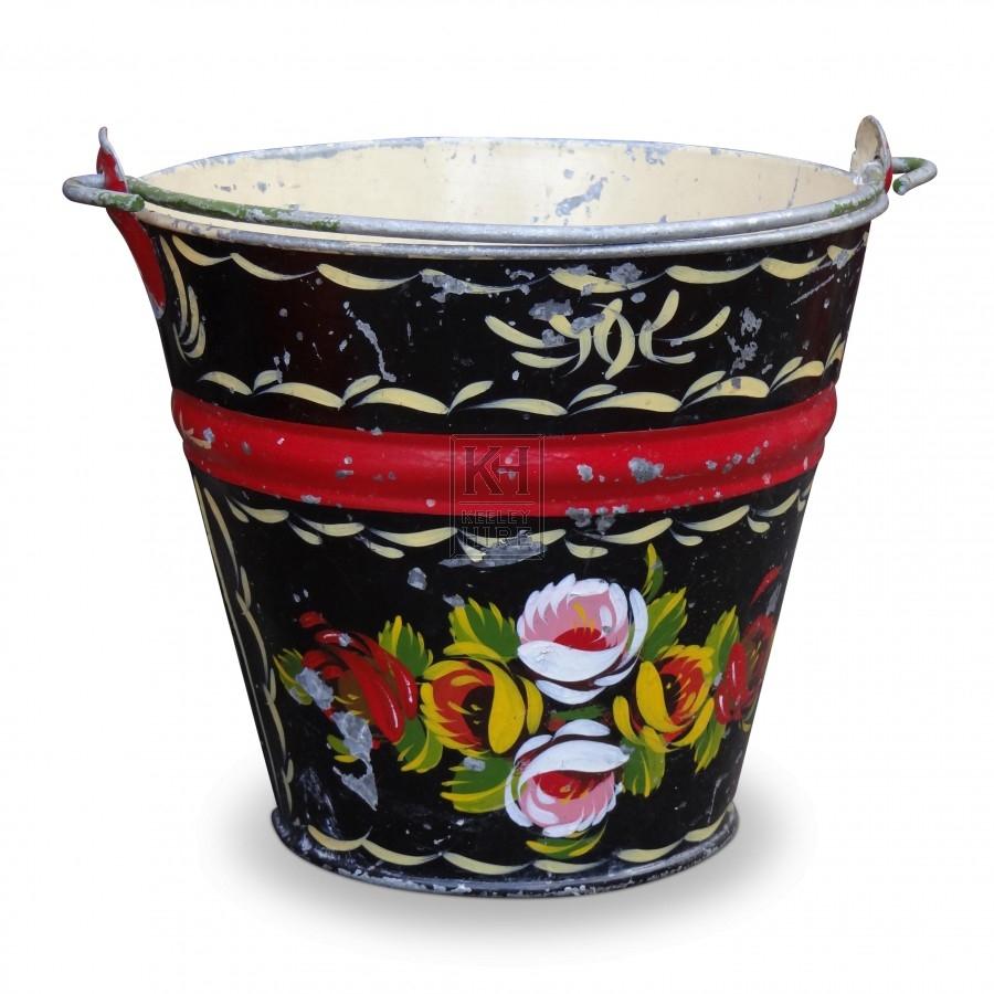Black Bargeware Bucket