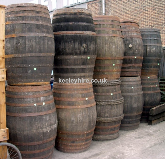 Large Wooden Barrels