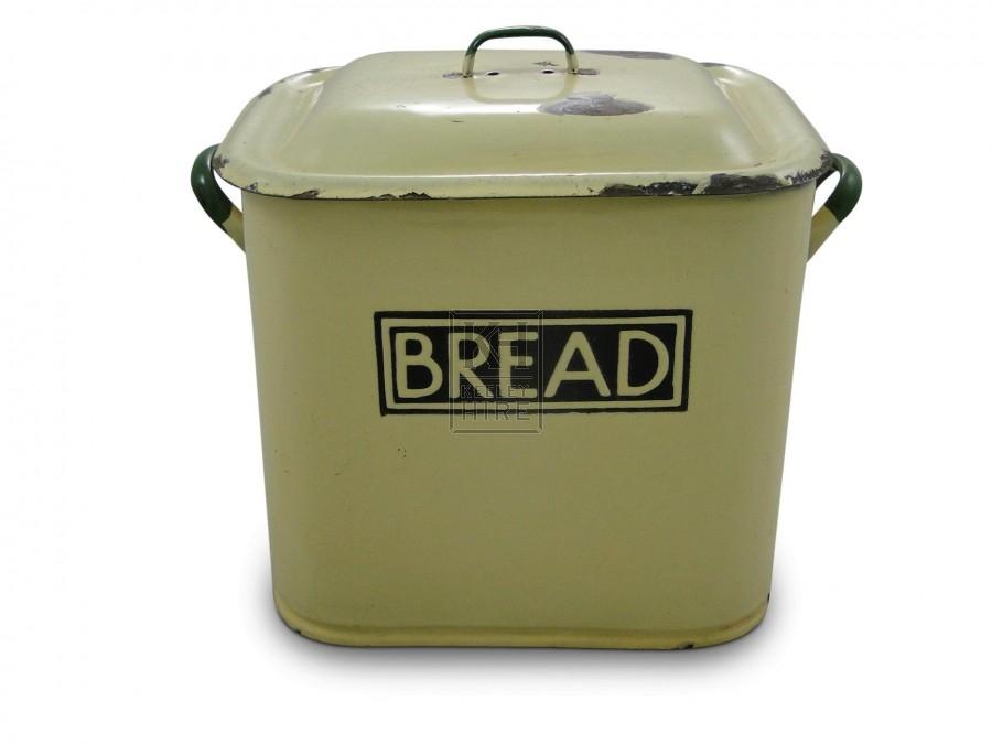 Cream Enamel Bread Bin