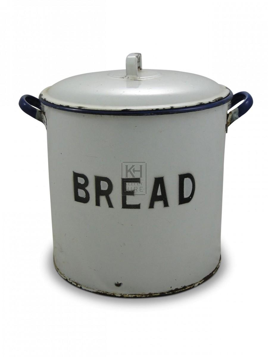 Round Enamel Bread Tin