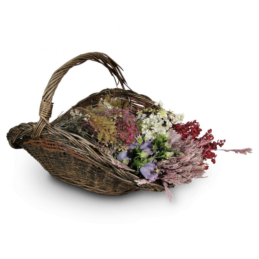 Flower basket with flowers