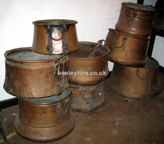 Various Copper Cooking Pots