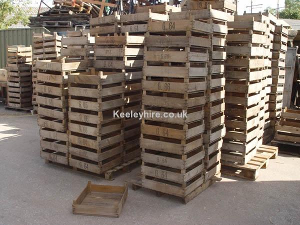 Crates Prop Hire Shallow Wood Crates Keeley Hire